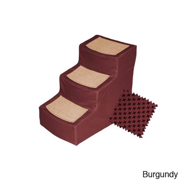 Pet Gear Inc. Designer Burgundy Pet Stairs
