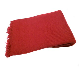 KPA Cashmere Red Twill-weave Shawl