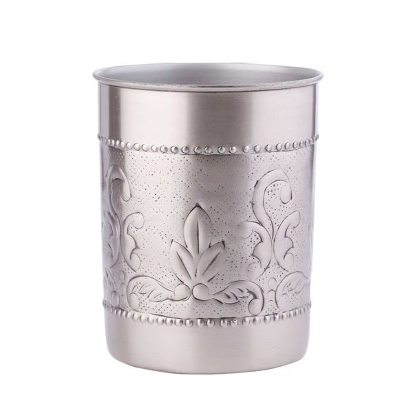 Victoria Antiqued Pewter Tool Caddy