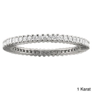 14k Gold 3/4ct or 1ct TDW Diamond Eternity Band (G-H, SI1-SI2)