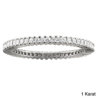 14k White Gold 3/4ct or 1ct TDW Princess Diamond Eternity Band (H-I, I1-I2)