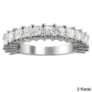 14k White Gold 1 3/8 or 2ct TDW Princess Diamond Band (H-I, I1-I2)