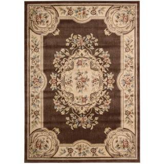 Nourison Chateau Brown Wool Blend Rug (6'x 8')