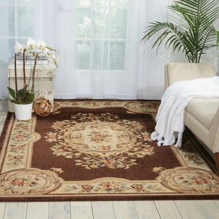 Nourison Chateau Brown Wool Blend Rug (3'3 x 5'3)