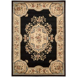 Nourison Chateau Black Wool-blend Rug (3�3 x 5�3)