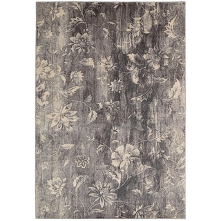 Nourison Utopia Floral Slate Rug (5'3 x 7'5)