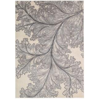 Nourison Utopia Floral Leaf Ivory Rug
