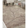 Nourison Utopia Floral Leaf Ivory Rug