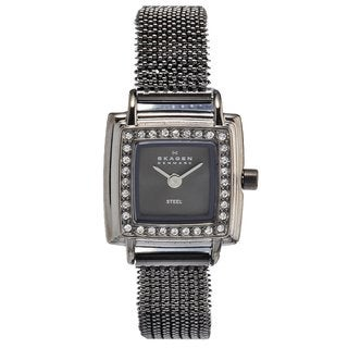 Skagen Women's Charcoal Stainless Steel Glitz Watch