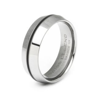 Swiss Legend Men's Domed Tungsten Carbide Ring