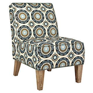 angelo:HOME Dover Modern Pinwheel Cream/ Sky Blue Armless Chair