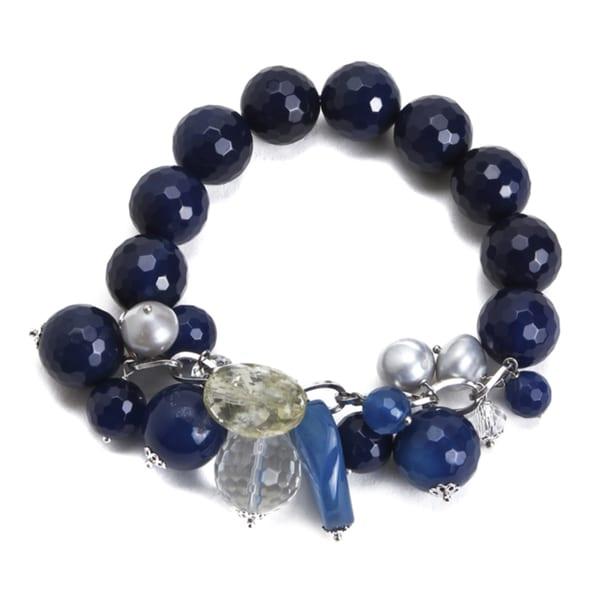 Lucien Piccard Women's 'ME Couture' Blue Charm Bracelet