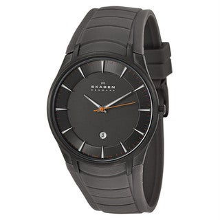 Skagen Men's Stainless Steel Rubber Strap Watch