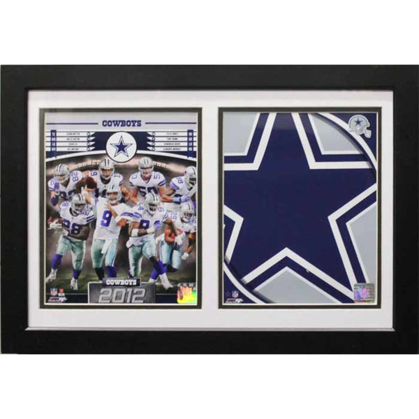 2012 Dallas Cowboys Custom Double Frame ( 12 x 18)