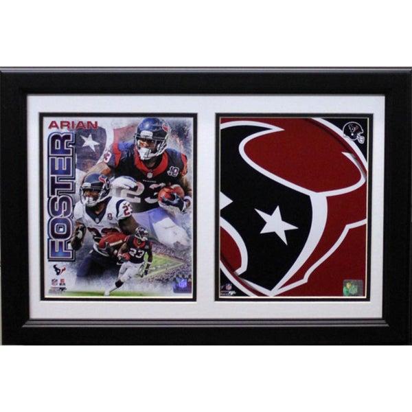 Arian Foster Houston Texans Custom Framed Double Print (12x18)