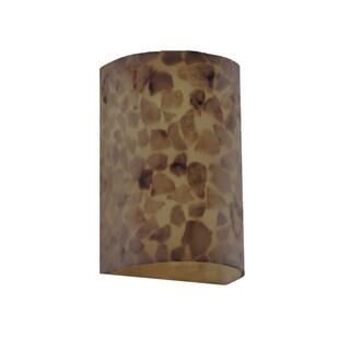 Justice Design Group Cylinder Alabaster Rocks Outdoor 1-light Wall Sconce