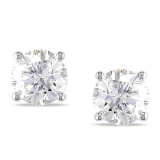 Miadora 14k White Gold 1 7/8ct TDW Diamond Stud Earrings (I-J, SI1-SI2)