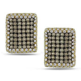 Miadora 18k Two-tone Gold 5 3/4ct TDW Brown Diamond Earrings (G-H, I1-I2)
