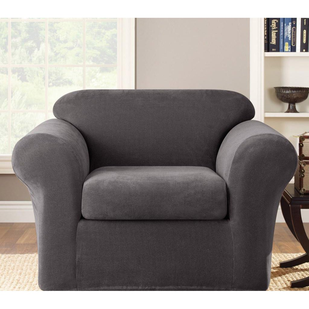 Slipcover Furniture Living Room: Seat Couch Slipcover Furniture Living Room Seater Stretch