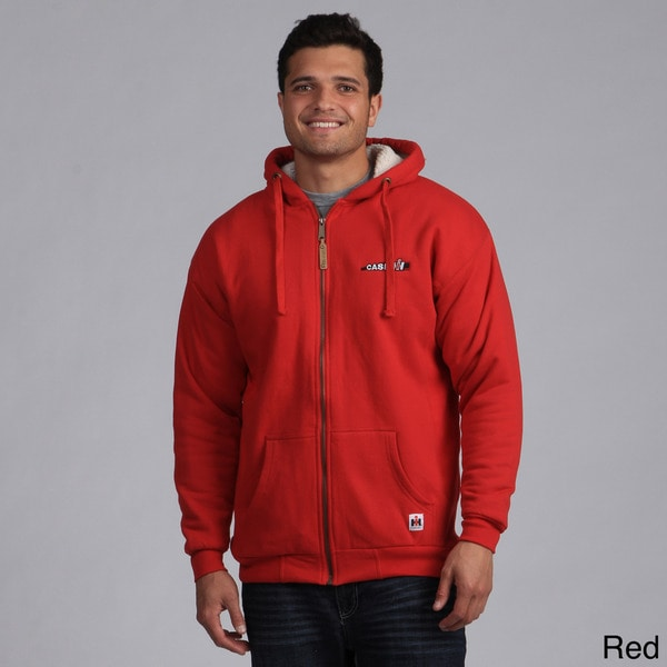 Case Ih Menaposs Logo Embroidered Sherpa Lined Hoodie