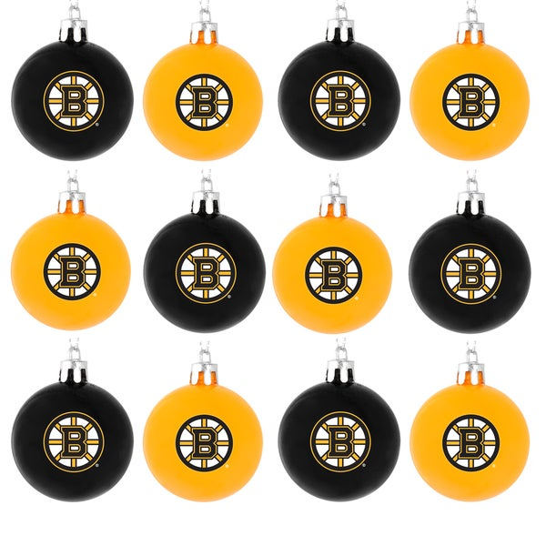 NHL 12-piece Plastic Ball Ornament Set