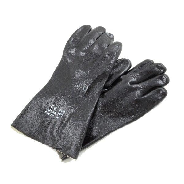 Azusa Safety Black PVC Interlock Liner Rough Finish 12-inch Gloves (12 Pairs)