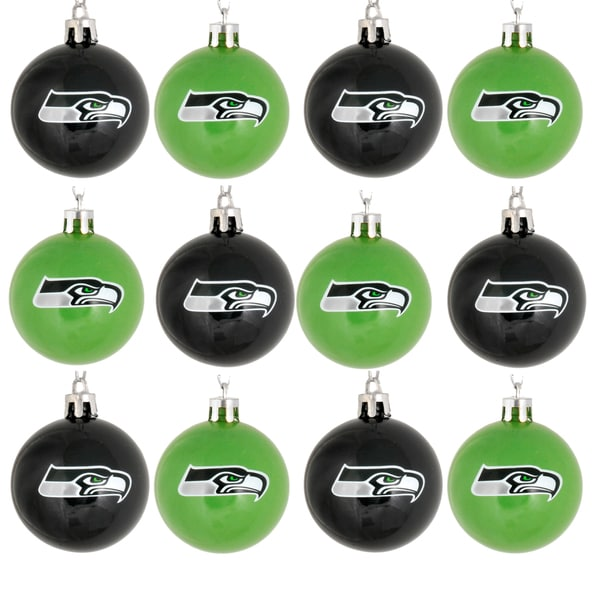 Forever Collectibles NFL 12-Piece Plastic Ball Ornament Set