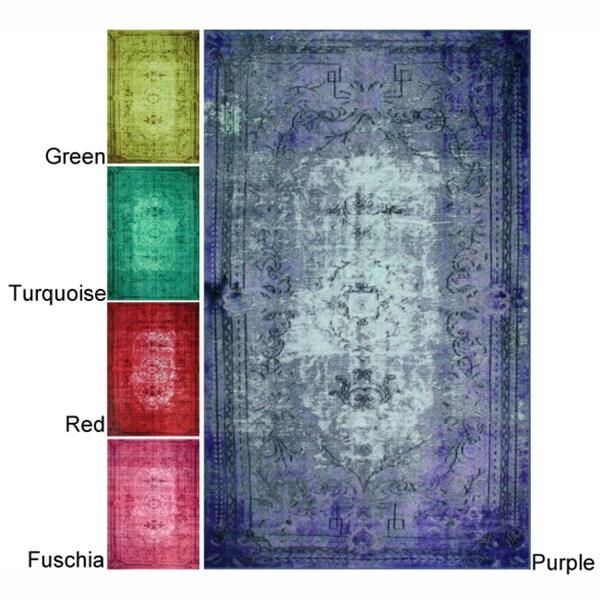 nuLOOM Vintage Inspired Overdyed Rug