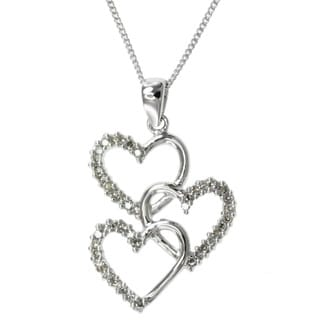 Michael Valitutti 14k Gold 1/4ct TDW Diamond Heart Necklace (I-J, I1-I2)