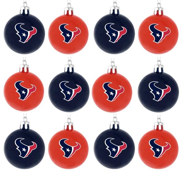 NFL 12-piece Plastic Ball Ornament Set