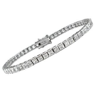 14k White Gold 7ct TDW Princess-Cut Diamond Bracelet (G-H, SI1-SI2 or VS1-VS2)