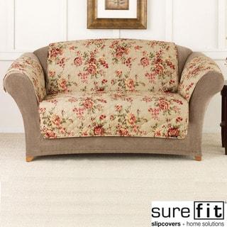 Sure Fit Lexington Floral Sofa Pet Throw with Strap