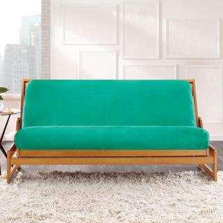 Sure Fit Kelly Green Shag Velvet Futon Cover
