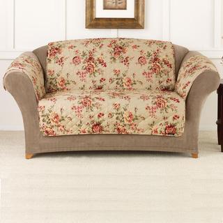 Sure Fit Lexington Floral Cotton Love Seat Cover