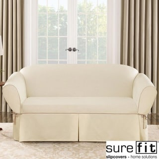 Sure Fit Contrast Cord Duck Natural Sofa Slipcover