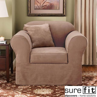 Sure Fit Suede Supreme Sable Chair Slipcover