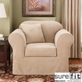 Sure Fit Suede Supreme Taupe Chair Slipcover