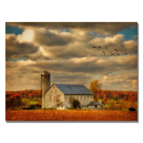 Lois Bryan 'Family Farm II' Contemporary Canvas Art
