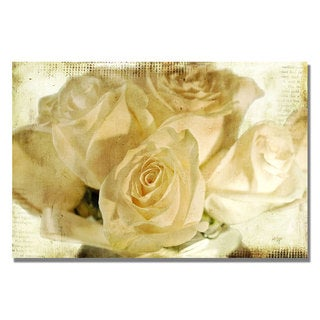 Lois Bryan 'White Rose's' Canvas Art