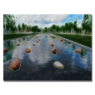 Kathie McCurdy 'Peaceful Water Abstract' Canvas Art