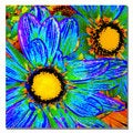 Amy Vangsgard 'Pop Daisies IV' Canvas Art