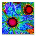 Amy Vangsgard 'Pop Daisies II' Canvas Art