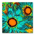 Amy Vangsgard 'Pop Daisies' Canvas Art