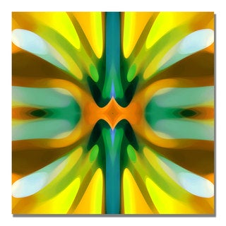 Amy Vangsgard 'Tree Light Symmetry Yellow' Canvas Art