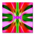 Amy Vangsgard 'Tree Light Symmetry Pink and Green' Canvas Art