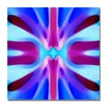 Amy Vangsgard 'Tree Light Symmetry Blue and Purple' Canvas Art