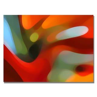 Amy Vangsgard 'Red Tree Light' Canvas Art