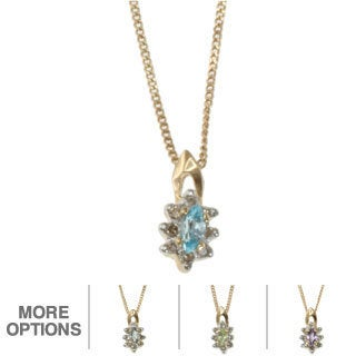 Michael Valitutti 10k Gold Gemstone and Diamond Pendant