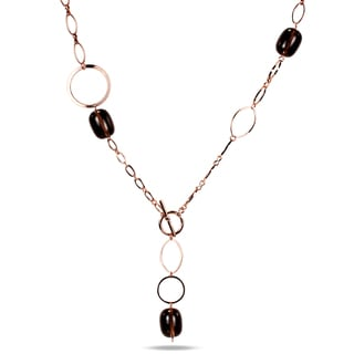 M by Miadora 18k Gold-plated Gemstone Necklace