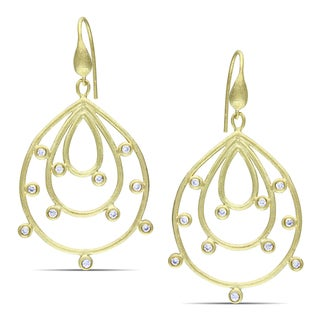 M by Miadora 18k Gold-plated CZ Dangle Earrings